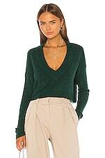 L'Academie Lorelai V Neck Sweater in Green