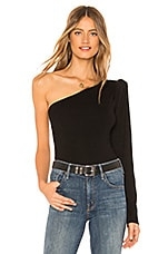 L'Academie The One Shoulder Sweater in Black