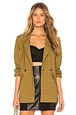 L'Academie The Hanna Jacket in Yellow Plaid
