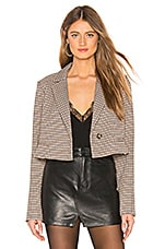 L'Academie The Lori Cropped Jacket in Brown