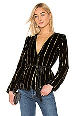 L'Academie The Morgan Jacket in Black & Gold