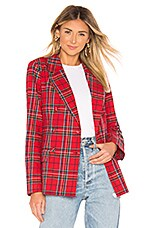 L'Academie The Ruth Jacket in Red Plaid