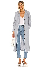 L'Academie The Olivia Trench in Dusty Blue