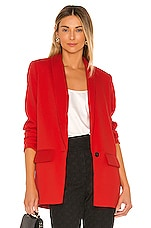 L'Academie The Fleur Blazer in Scarlet Red