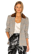 L'Academie The Marianne Blazer in Brown Multi