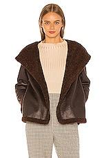 L'Academie The Stefhanie Coat in Chocolate Brown