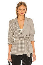 L'Academie The Rafaella Blazer in Taupe Plaid