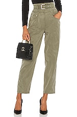 L'Academie The Lisa Pant in Olive Green