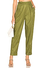 L'Academie The Sennet Pant in Olive