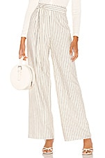 L'Academie The Lani Pant in White & Black Stripe