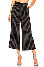 L'Academie Envoy Pants in Black Stripe