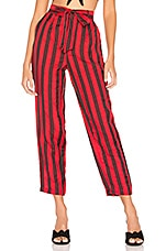 L'Academie The Jerome Pant in Red & Black