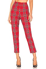 L'Academie The Leslie Pant in Red Plaid
