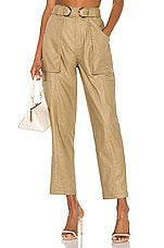 L'Academie The Amel Pant in Olive Green