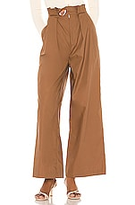 L'Academie The Page Pant in Pecan Brown