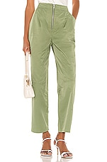 L'Academie The Caleigh Pant in Dusty Jade