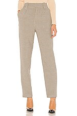 L'Academie The Olivette Pant in Taupe Plaid