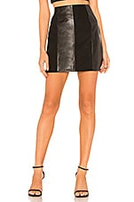 L'Academie The Lynch Leather Skirt in Black