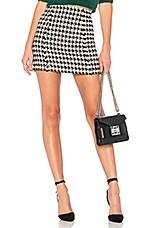 L'Academie The Sammie Skirt in Black & White