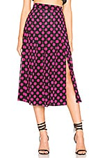 L'Academie The Kimmy Skirt in Vibrant Dot