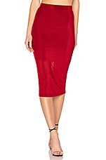 L'Academie The Ashley Midi Skirt in Persian Red