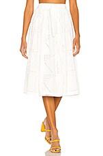 L'Academie The Rosine Midi Skirt in White