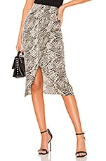L'Academie The Blythe Skirt in Black & Tan Tiger