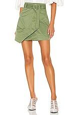 L'Academie The Shantel Mini Skirt in Dusty Jade