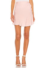 L'Academie The Elsa Mini Skirt in Primrose Pink