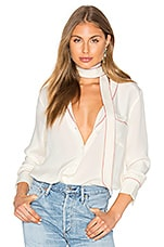 x REVOLVE The Silk Blouse in Ivory