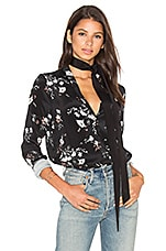 L'Academie x REVOLVE The Silk Blouse in Floral