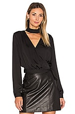 The High Collar Wrap in Black