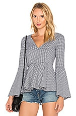 L'Academie X REVOLVE The Statement Top in Black & White Gingham