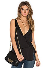 L'Academie The Ruffle Cami in Black
