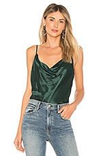 L'Academie The Cowl Cami in Emerald