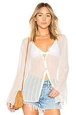 L'Academie Lene Button Up in Ivory Gold Stripe