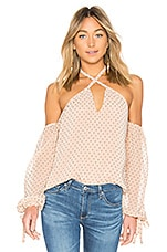 L'Academie Amber Blouse in Nude Dot