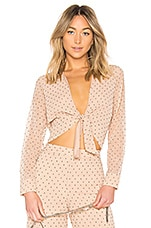 L'Academie Lea Blouse in Nude Dot