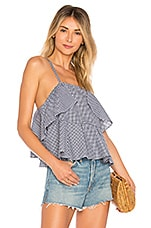 L'Academie The Lucie Top in Noir Gingham