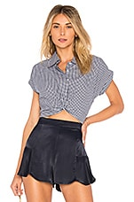 L'Academie The Dre Top in Noir Gingham