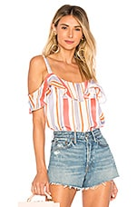 L'Academie The Isla Blouse in Sunset Stripe