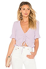 L'Academie The Lucia Blouse in Lilac