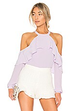 L'Academie The Helena Blouse in Lilac
