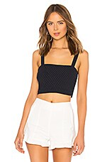 L'Academie Macie Crop Top in Dark Navy
