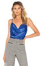 L'Academie The Cowl Cami in Bright Navy