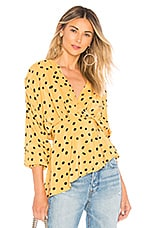 L'Academie The Benae Blouse in Yellow Not Dot