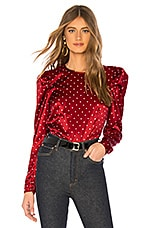 L'Academie The Eleonora Blouse in Ruby Dot