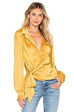 L'Academie Wrap Me Up Top in Yellow