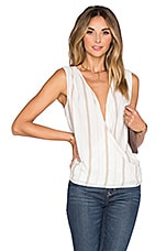 The Wrap Blouse en Rayé