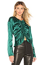 L'Academie The Waylon Blouse in Rainforest Green